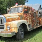 Antique fire truck fire engine online auction