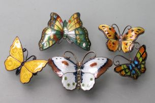 Denmark sterling butterfly RVA online auction